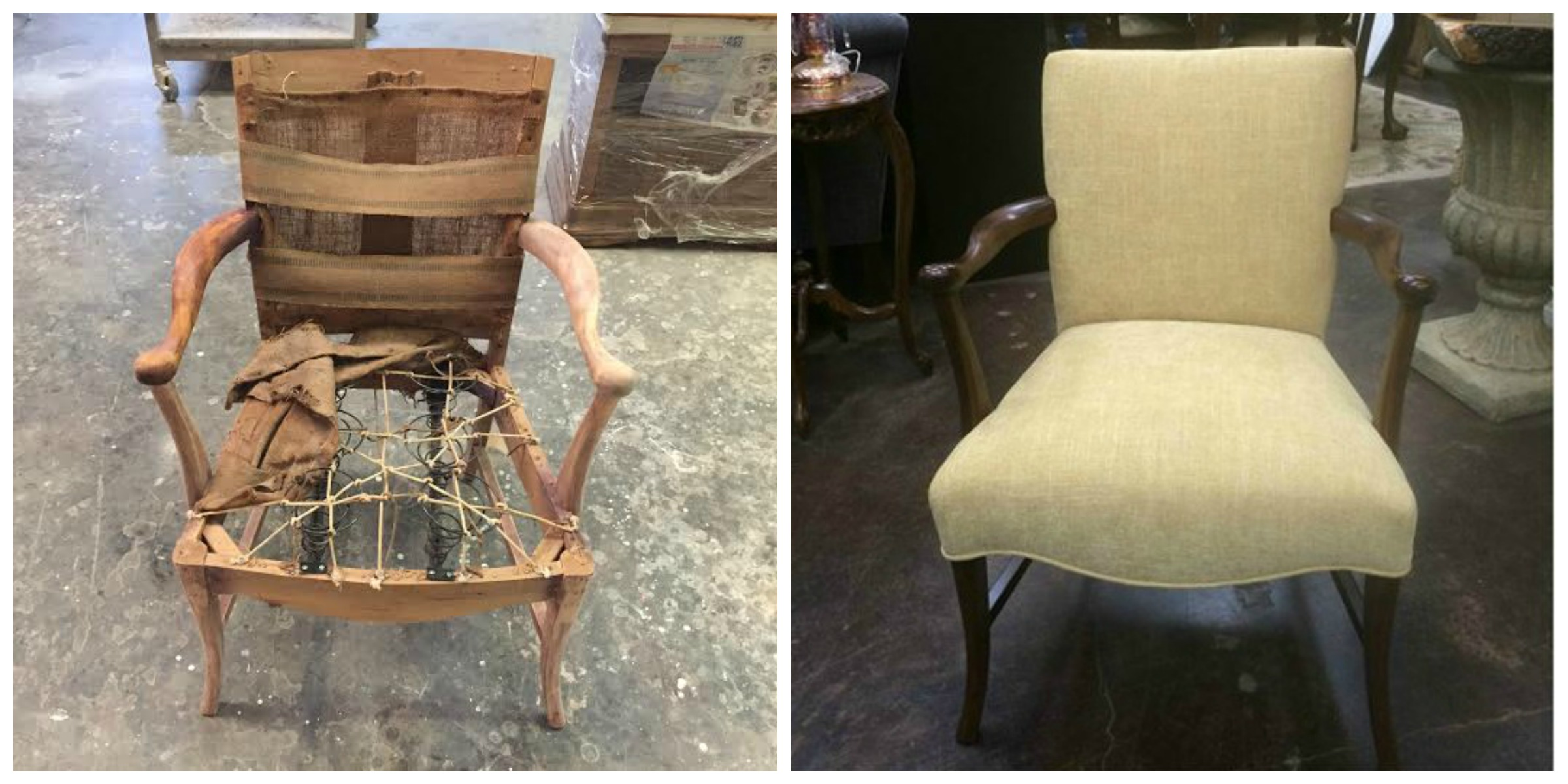Before & After Texas Upholstery